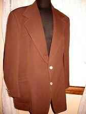 VTG Del Monico Rockabilly Brown Western stitch Polyester Sportscoat 40 R