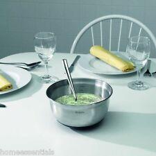Brabantia 1L 1000ml Stainless Steel Kitchen Mixing Bowl With Non Slip Base