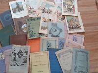 Lotto 30 quaderni Anni '20 e libriccini scuola 1900/1920