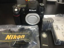 Nikon D80 10.2MP Digital SLR DSLR Camera Body Only Remote Battery Charger Strap
