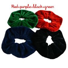 PAIR OF FOUR EXTRA LARGE (JAMBO)16CM VELVET HAIR SCRUNCHES
