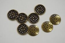 8pc 18mm OLD GOLD Recinzione con filo di ottone effetto metallo Cardigan maglieria pulsante 3530