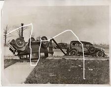 26x20 Presse Foto 1932 Unfall Packard Ford Chevi vor Odermatt Polizei photo