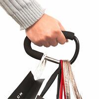 Black Baby Pushchair Stroller Clip Hook Buggy Pram Carabiner Diaper Hanger Bag