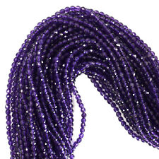 "3mm faceted amethyst round beads 15.5"" strand"
