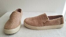 TOMS Women's 10012394 Light Brown Faux Shearling Sunset Slip-on Footwear Shoes
