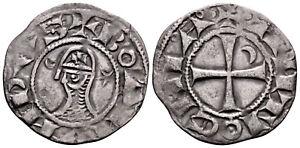 CRUSADERS (1163-1188 AD) Bohemond AR Denier. Antioch #CR 8150