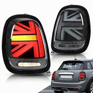 For MINI Cooper MK3 F55 F56 F57 3D LED Tail Light  Smoke Union Jack Rear Lights