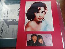 Elizabeth Taylor autograph photo A RED 11x14 matted signed auto Richard Burton