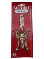 FOX HEAD & TAIL DOOR KNOCKER  POLISHED BRASS DOOR KNOCKER 15cm INCLUDING SCREWS!