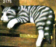 CERAMIC BISQUE SHELF SLEEPER CAT - READY TO PAINT