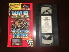 VHS-WAR OF THE MONSTER TRUCKS 1986 TV-ONE Productions Ford F-150 Big Foot  OOP