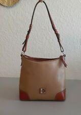 Dooney & Bourke Pebble Leather Hobo Shoulder Purse Bag Beige Sand