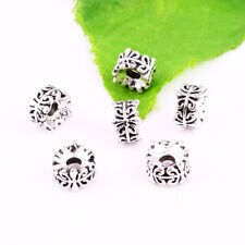 20pcs Tibetan silver Spacer Flower Loose Beads Jewelry Finding DIY 7x4mm