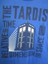 T-Shirt, DR WHO The TARDIS Time Relative Dimension in Space L Blue MWT Doctor @@