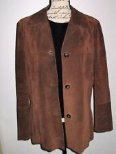 MAX MARA Brown Suede Leather Jacket-Size 8-Gorgeous