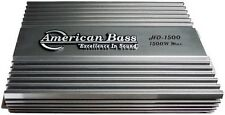 American Bass HD1500 1500W HD Series Amplifier