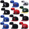 Men Adjustable New MLB Team Embroidered Logo Cap Sanpback Baseball Flat Brim Hat
