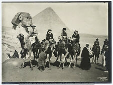 "Egypt The Pyramids 1924 Camels Arabs Sphinx British Empire 6x5"" Reprint Photo"