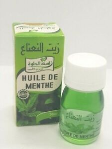 Mint Oil Natural 100% Morocco Moroccan Handmade Oil Therapy Skin Hair  30 ml