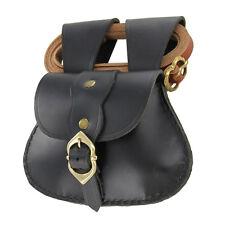 Medieval Renaissance Elegant Leather Pouch & Belt Set