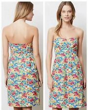 Girls From Savoy Anthropologie Bright Floral Beach Garden Party Dress Sz 2