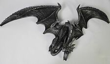 FLYING DRAGON WALL HANGING Resin Figure Statue NEW Serpent Gothic Fantasy Horror