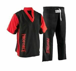 ProForce Demo Team Uniform Martial Arts Karate Competition - Black & Red