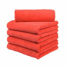 "5 microfiber 16x16"" cleaning cloths detailing polishing towels rags 380 gsm FRD"