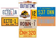 Lot 8 Plaques d'immatriculation Films et séries US Mythiques 30x15cm métal PF05