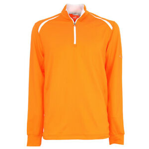 Puma Golf 1/4 Zip Top Orange SWEATER Men M NEW