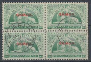 SAMOA 1920 ½d. VICTORY USED BLOCK (x4)