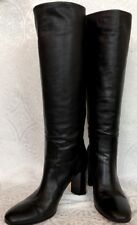 Gianvito Rossi Tall Knee Boots Black Leather Size 40