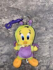 1990s TWEETY BIRD PLUSH KEYCHAIN Warner Bros. Store Stuffed Animal Bug Doll Toy