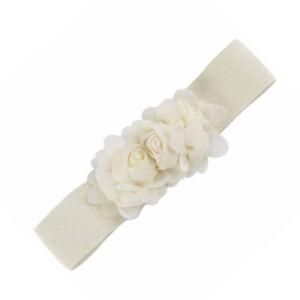 Wide Waist Belt Stretch Rose Flower Waistband Women Elastic Corset Cincher New