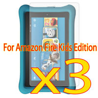 3x New For Amazon Fire Kids Crystal HD Screen Film Protector Guard(2016)