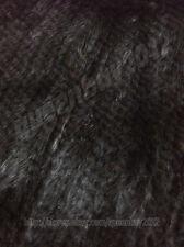 New 100% Real Knitted Mink Fur Jacket Coat Cardigan Outwear Grey Cutom Pocket