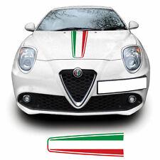 Alfa Romeo Mito Italian Flag Bonnet Racing Stripe Vinyl Decal Sticker Graphic