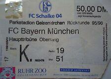 TICKET 1995/96 FC Schalke 04 - Bayern München