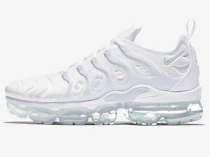 Nike Air Vapormax Plus Triple White (Men's Sizes 8-13)   924453-100