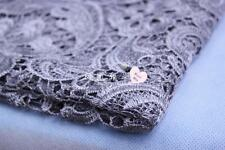 G11 Silver Guipure Lace bridal lace 120cm wide-Sold  by 1/2 yard