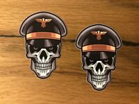 2x Skull Aufkleber Soldat Hotrod Oldschool Airride Low Rider Biker Custom #310