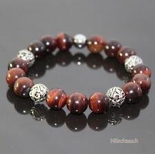 Herren Antik Fleur De Lis Perlen Gummiband Armband Shamballa für Männer