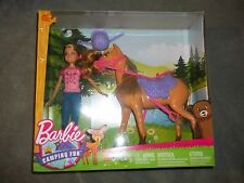 Lot of Barbie CAMPING FUN Stacie Sister Doll & Horse Doll Tent And Accessories
