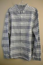 NWT AMERICAN EAGLE Classic Fit Button Front XLARGE Blue Chambray Stripe #314331