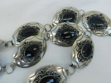 """Onyx Concho Belt Nickel 10 Sections 29"""" Long Usa"""