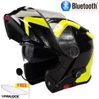 VIPER RS-V171 BLUETOOTH FLIP FRONT MOTORCYCLE HELMET SPLINE YELLOW / BLACK