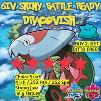 Pokemon Sword Shield SHINY 6IV DRACOVISH | BATTLE READY | + DITTO OFFER