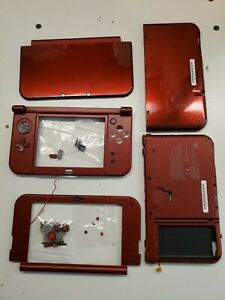 Nintendo New 3DS XL Red System Top Bottom Shell Parts Buttons wifi antenna #4345