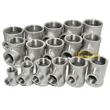 304 Stainless Steel 3 Way Female Threaded Reducer BSPT Pipe Fittings Full Size